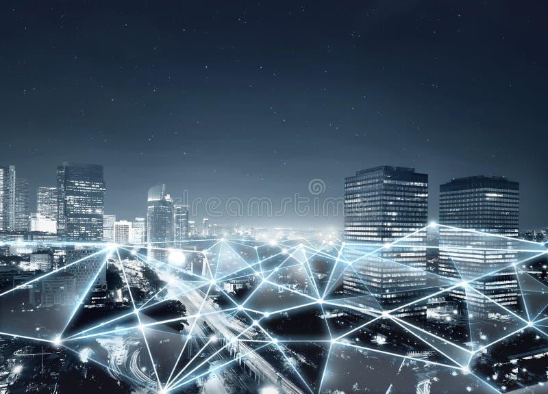 Χάρτης της σύνδεσης δικτύων και της επικοινωνίας Διαδικτύου στοκ φωτογραφίες με δικαίωμα ελεύθερης χρήσης