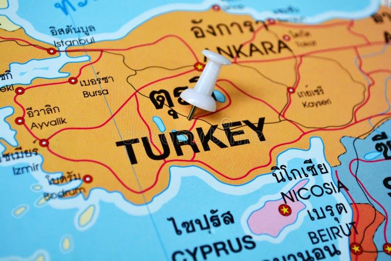 Χάρτης της Τουρκίας στοκ εικόνες