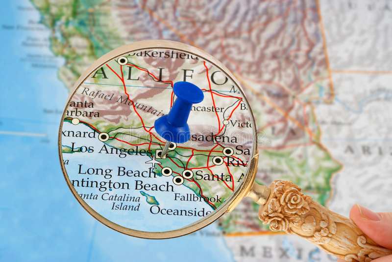 χάρτης της Angeles Los στοκ εικόνες