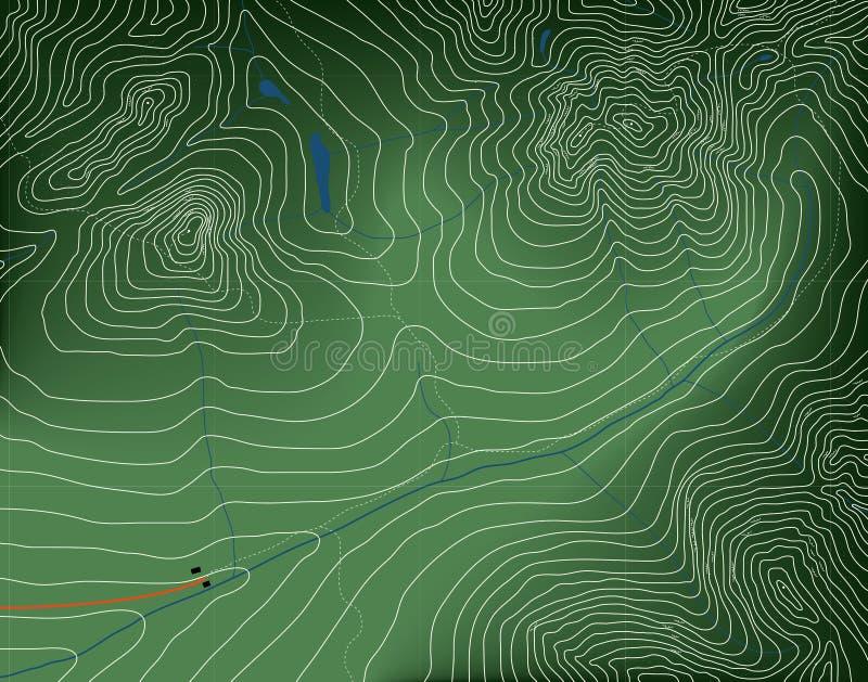 χάρτης τοπογραφικός διανυσματική απεικόνιση