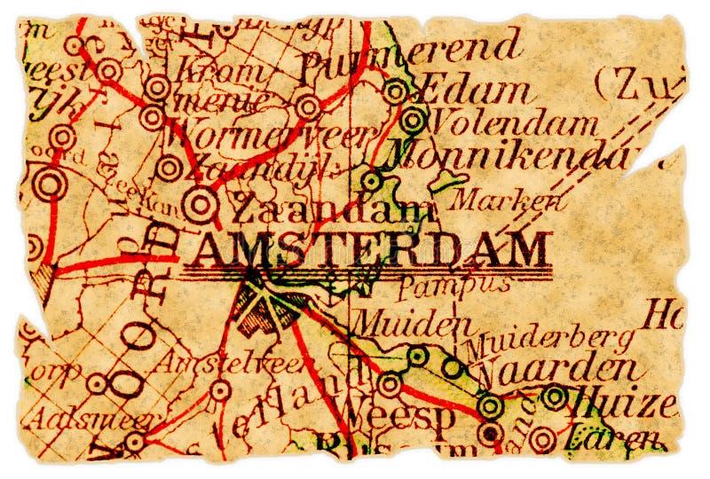 χάρτης του Άμστερνταμ παλ&alph στοκ εικόνα