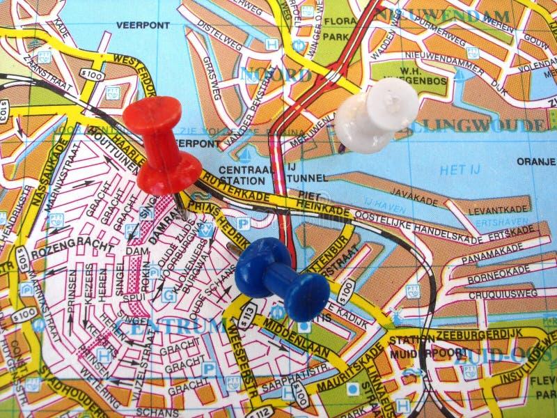 χάρτης του Άμστερνταμ στοκ φωτογραφία