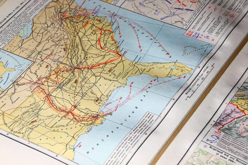 Χάρτης του ΑΜΕΡΙΚΑΝΙΚΟΥ εμφύλιου πολέμου στοκ εικόνα