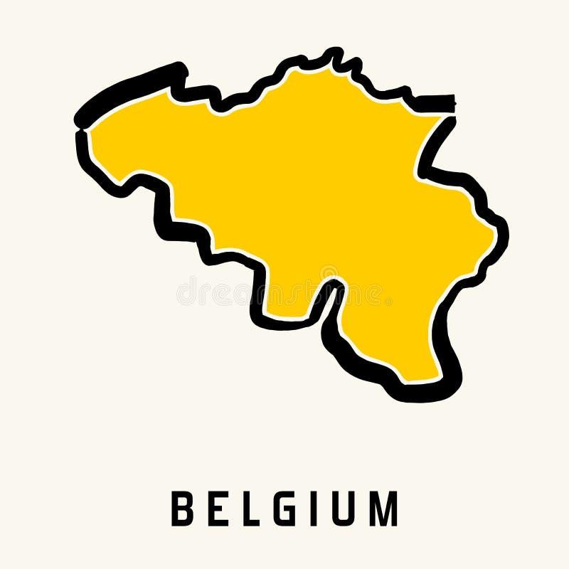 Χάρτης του Βελγίου ελεύθερη απεικόνιση δικαιώματος