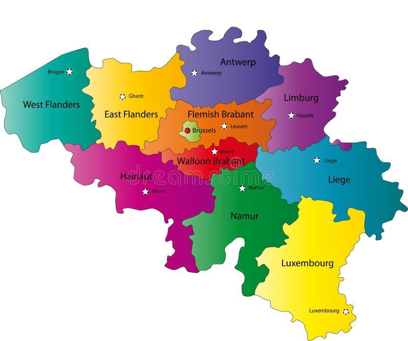 Χάρτης του Βελγίου απεικόνιση αποθεμάτων