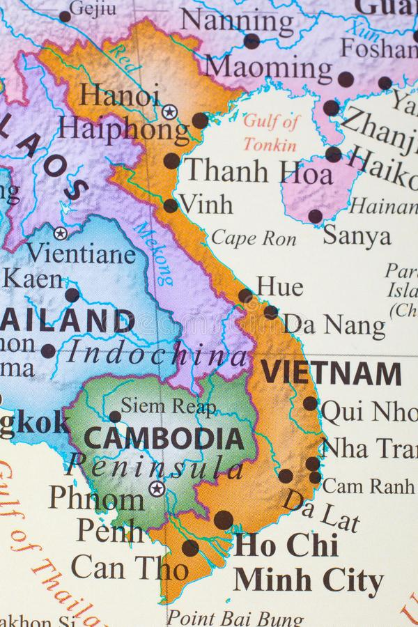 Χάρτης του Βιετνάμ στοκ φωτογραφία με δικαίωμα ελεύθερης χρήσης