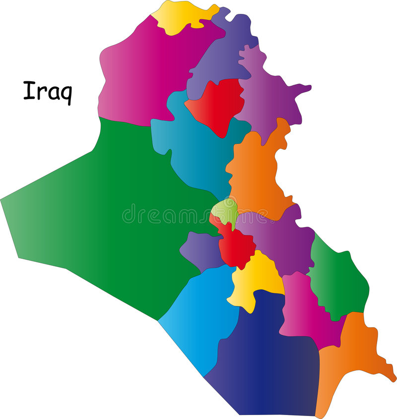 χάρτης του Ιράκ ελεύθερη απεικόνιση δικαιώματος