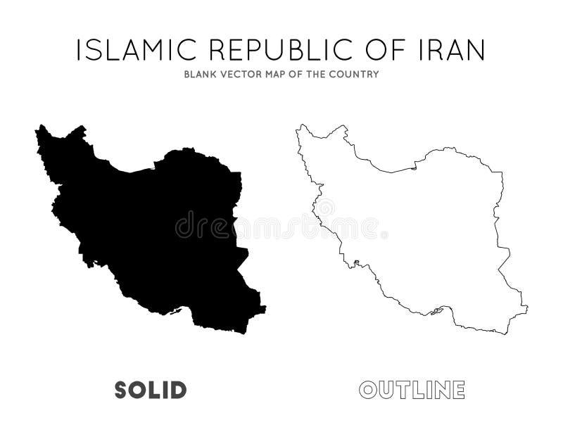 Χάρτης του Ιράν ελεύθερη απεικόνιση δικαιώματος