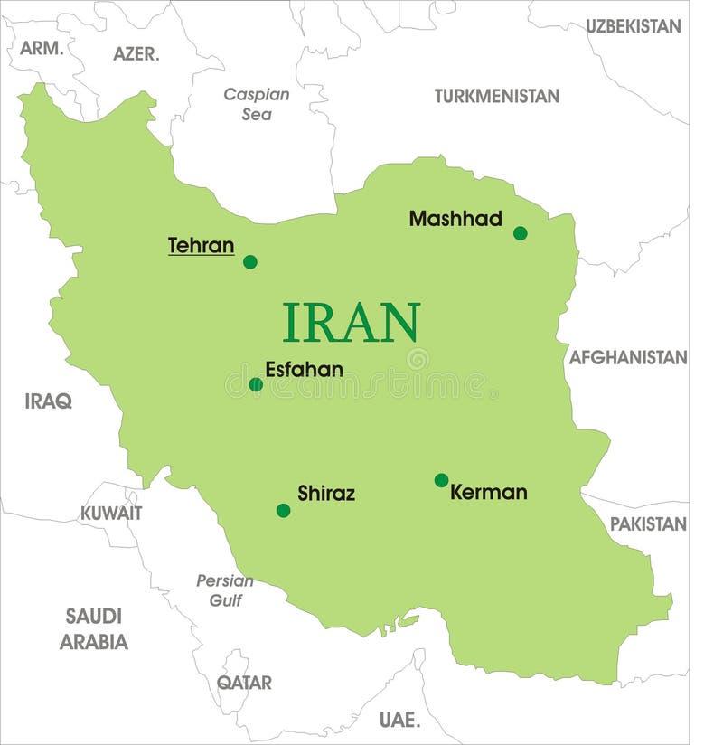 χάρτης του Ιράν διανυσματική απεικόνιση