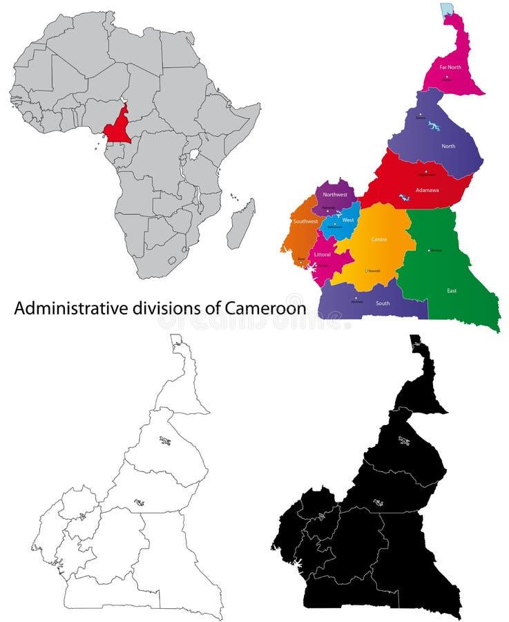 χάρτης του Καμερούν ελεύθερη απεικόνιση δικαιώματος