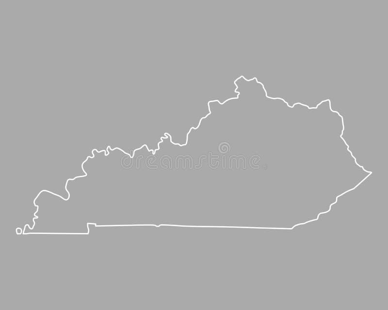 Χάρτης του Κεντάκυ διανυσματική απεικόνιση