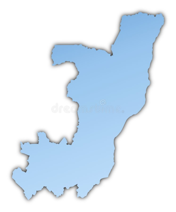 χάρτης του Κογκό ελεύθερη απεικόνιση δικαιώματος