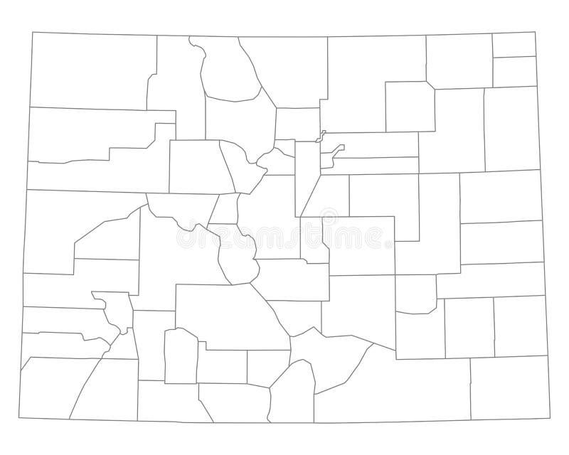 χάρτης του Κολοράντο διανυσματική απεικόνιση