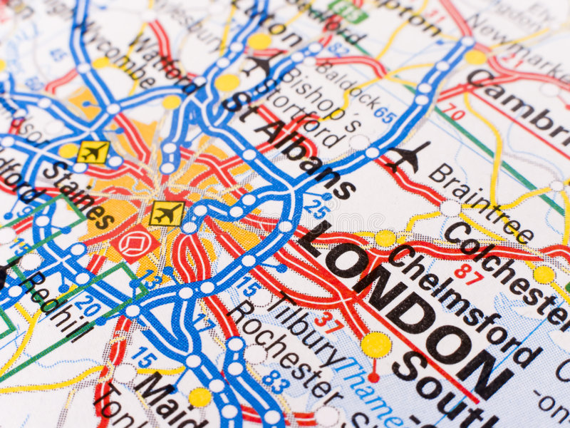 χάρτης του Λονδίνου στοκ εικόνα