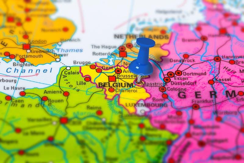 Χάρτης του Μάαστριχτ Βέλγιο στοκ εικόνα
