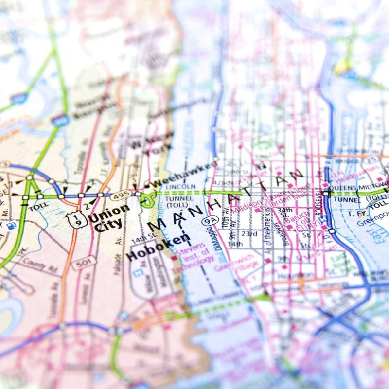 Χάρτης του Μανχάταν στοκ φωτογραφία με δικαίωμα ελεύθερης χρήσης