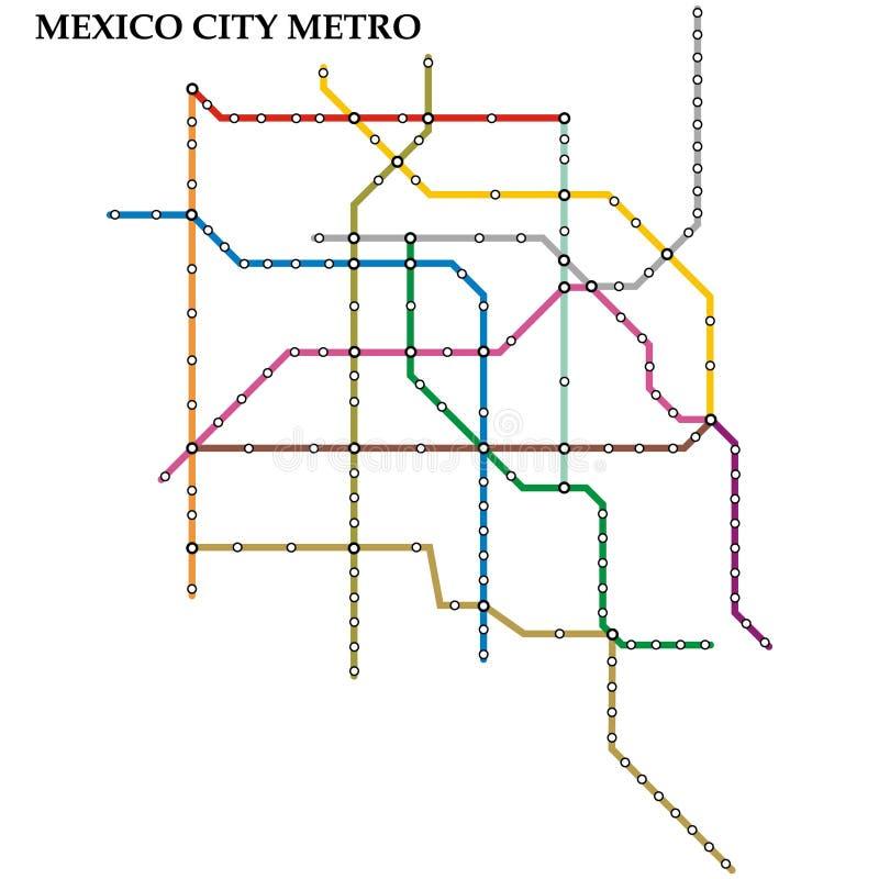 Χάρτης του μετρό, υπόγειος ελεύθερη απεικόνιση δικαιώματος