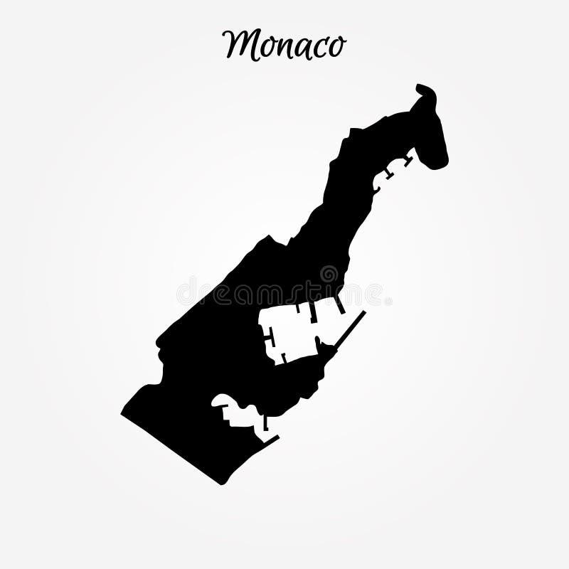Χάρτης του Μονακό διανυσματική απεικόνιση
