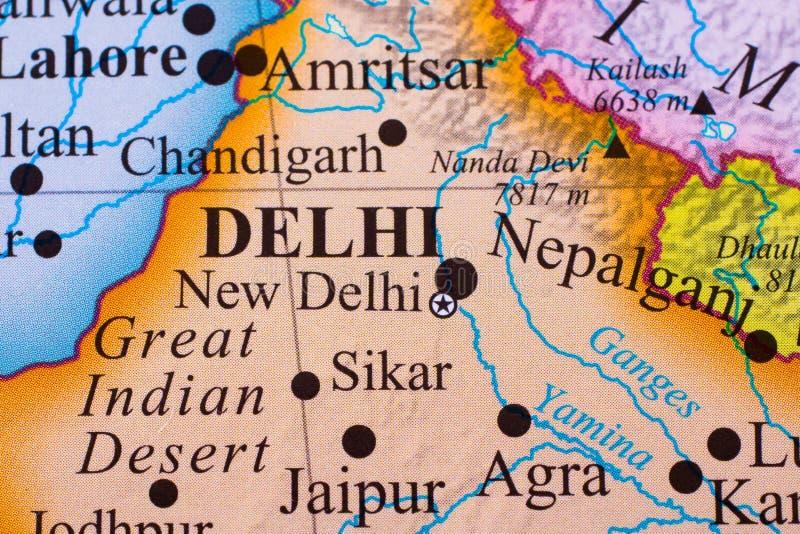 Χάρτης του νότιου μέρους της Ινδίας στοκ φωτογραφίες