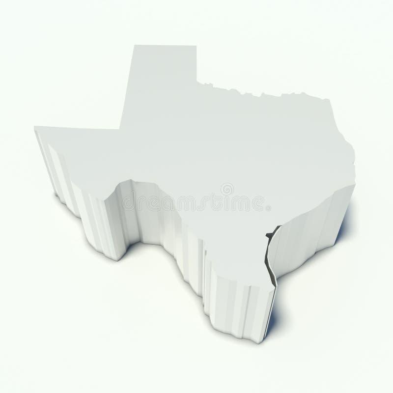 Χάρτης του Τέξας διανυσματική απεικόνιση