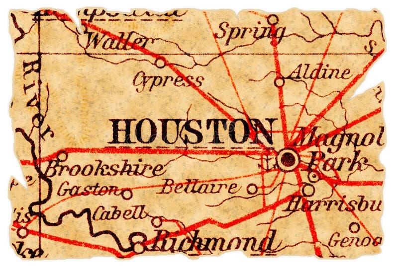 χάρτης του Χιούστον παλα&io στοκ εικόνες