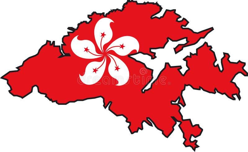 χάρτης του Χογκ Κογκ διανυσματική απεικόνιση
