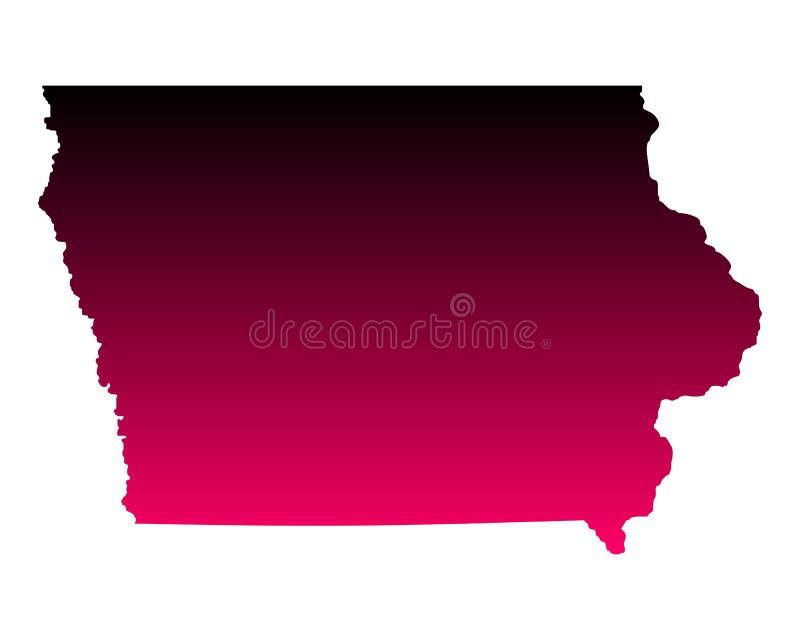 χάρτης του Iowa ελεύθερη απεικόνιση δικαιώματος
