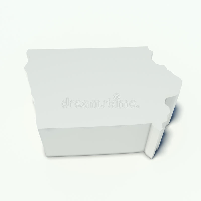 Χάρτης του Iowa απεικόνιση αποθεμάτων