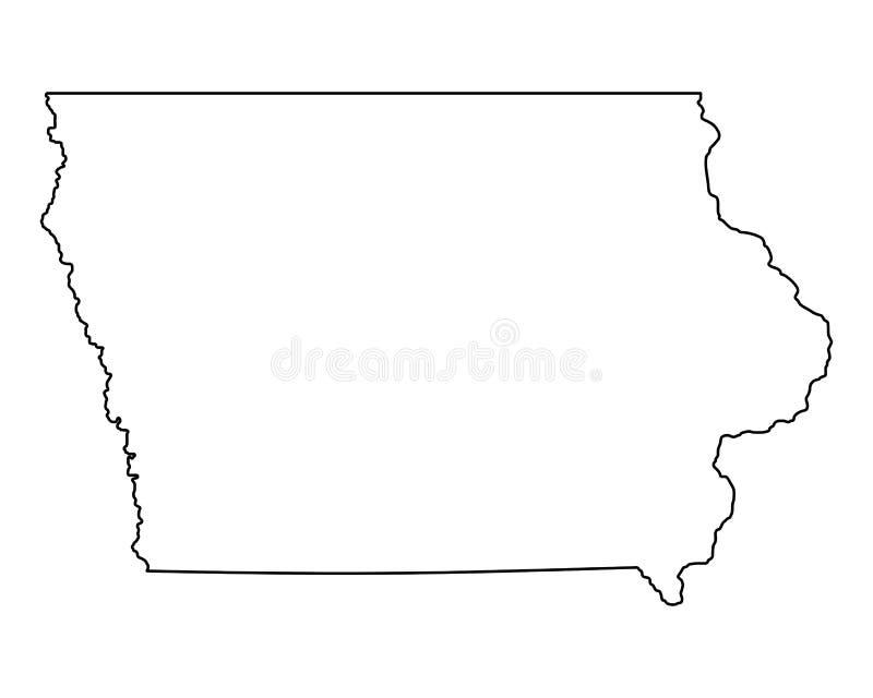 χάρτης του Iowa διανυσματική απεικόνιση
