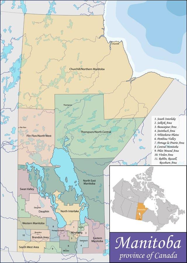 Χάρτης του Manitoba ελεύθερη απεικόνιση δικαιώματος