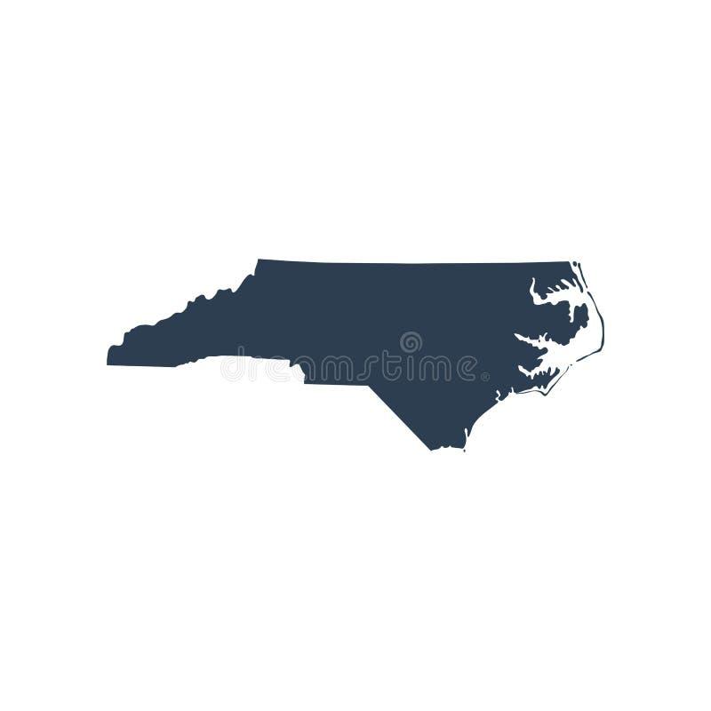 Χάρτης του U S Καρολίνα του κρατικού Βορρά ελεύθερη απεικόνιση δικαιώματος