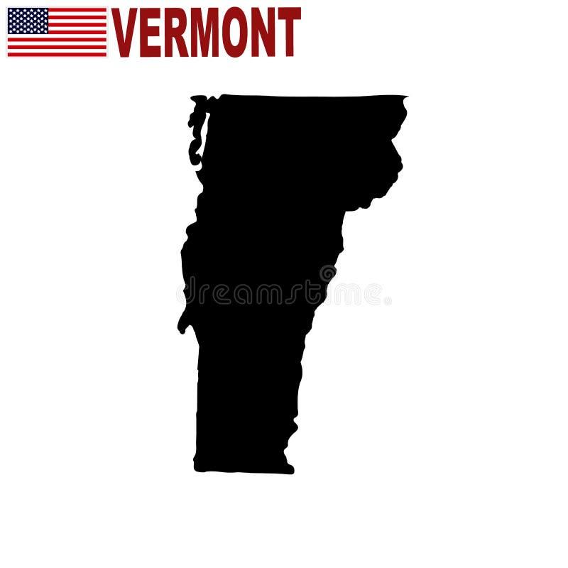 Χάρτης του U S κατάσταση του Βερμόντ σε ένα άσπρο υπόβαθρο ελεύθερη απεικόνιση δικαιώματος