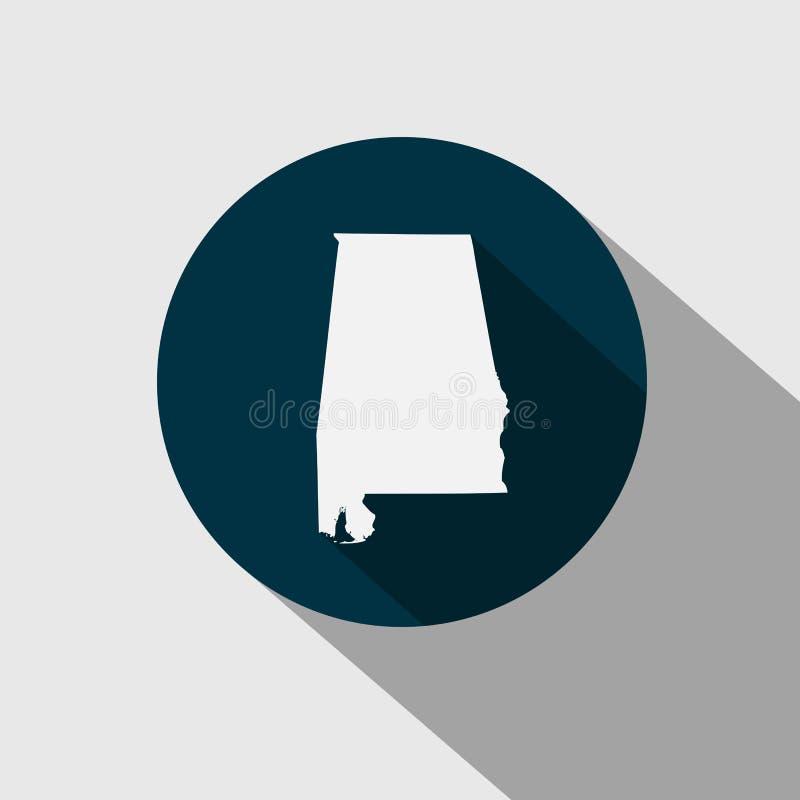 Χάρτης του U S κράτος Αλαμπάμα διανυσματική απεικόνιση