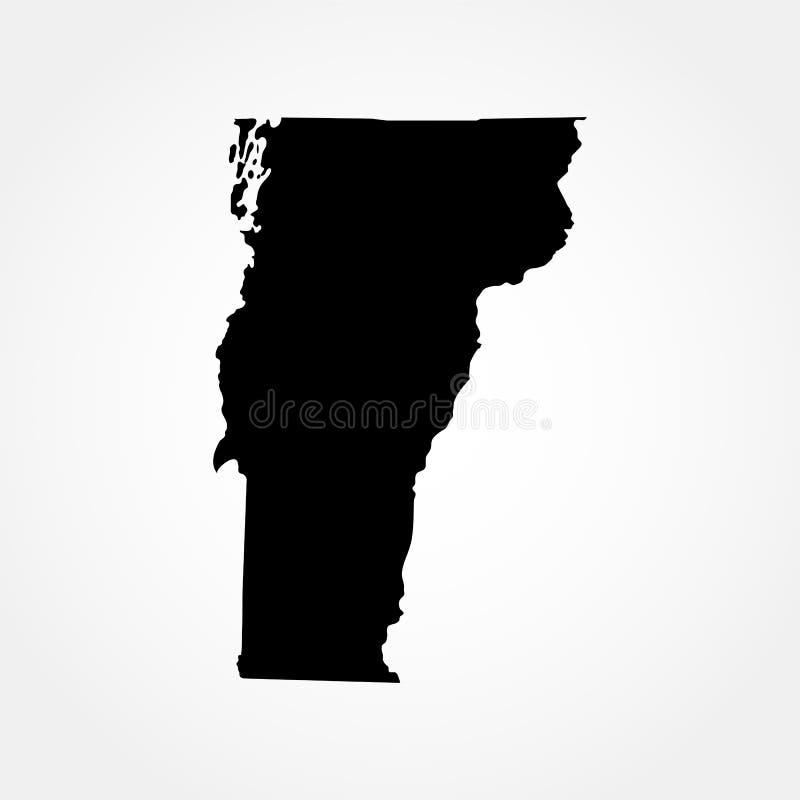 Χάρτης του U S κράτος Βερμόντ απεικόνιση αποθεμάτων