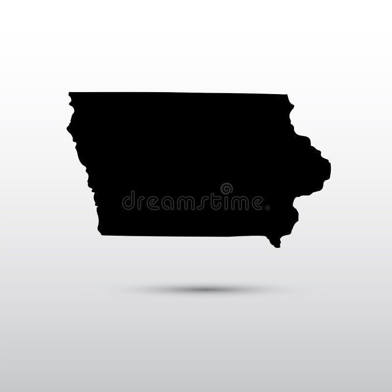 Χάρτης του U S κράτος του Iowa απεικόνιση αποθεμάτων