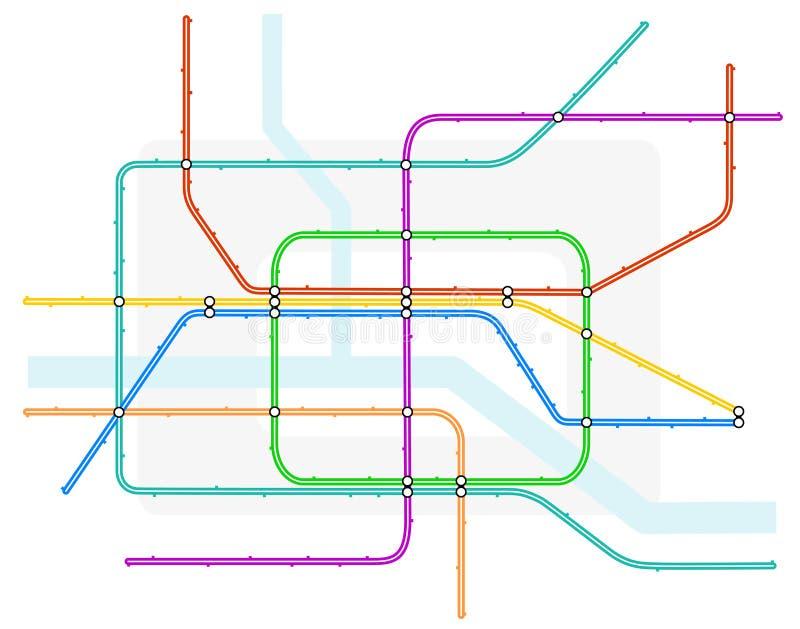 χάρτης υπόγεια ελεύθερη απεικόνιση δικαιώματος
