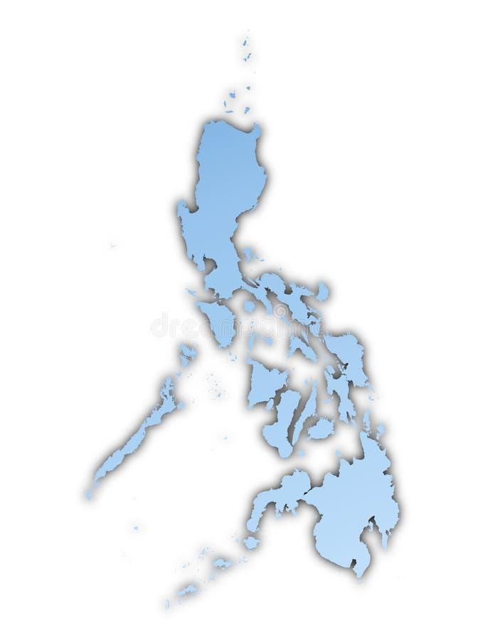 χάρτης Φιλιππίνες ελεύθερη απεικόνιση δικαιώματος