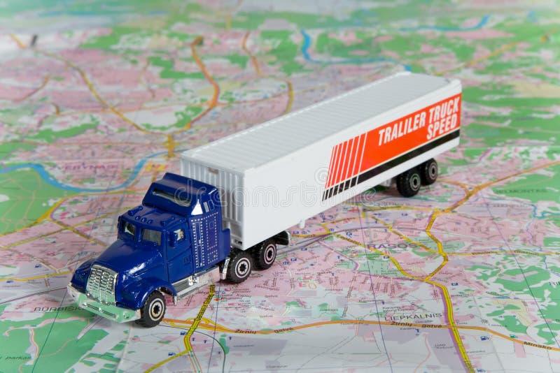 χάρτης φορτηγών στοκ εικόνες
