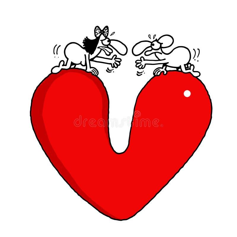 Χάσμα αγάπης διανυσματική απεικόνιση