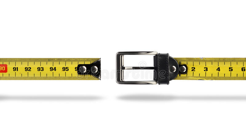 Χάσμα ζωνών μέτρου απώλειας βάρους στοκ εικόνες