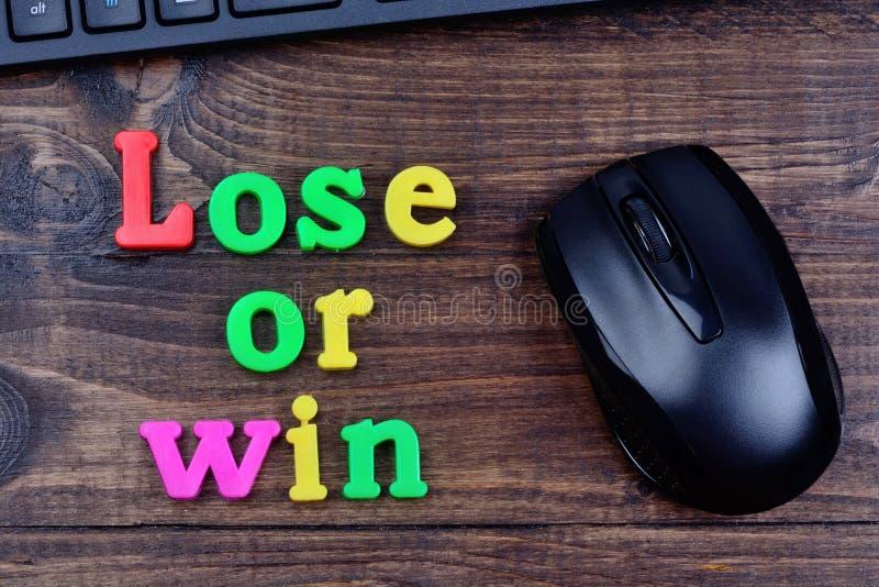 Χάστε ή κερδίστε τις λέξεις στον πίνακα στοκ εικόνα με δικαίωμα ελεύθερης χρήσης