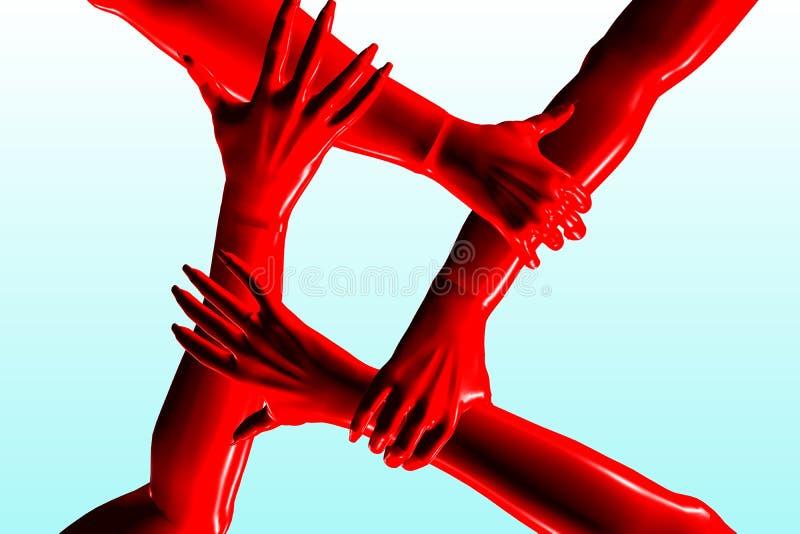 χέρια από κοινού απεικόνιση αποθεμάτων