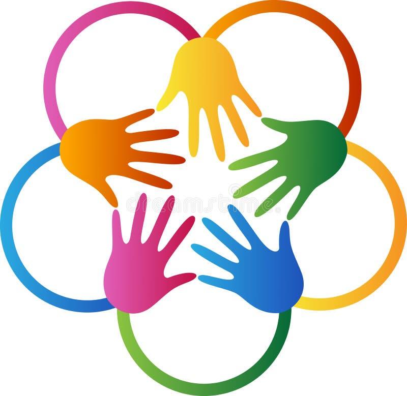 Χέρια αστεριών ελεύθερη απεικόνιση δικαιώματος