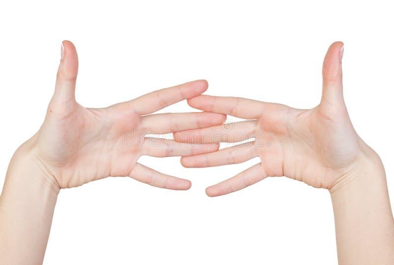 Download Χέρια γυναικών που απομονώνονται Στοκ Εικόνα - εικόνα από κορίτσι, επιχείρηση: 22793613