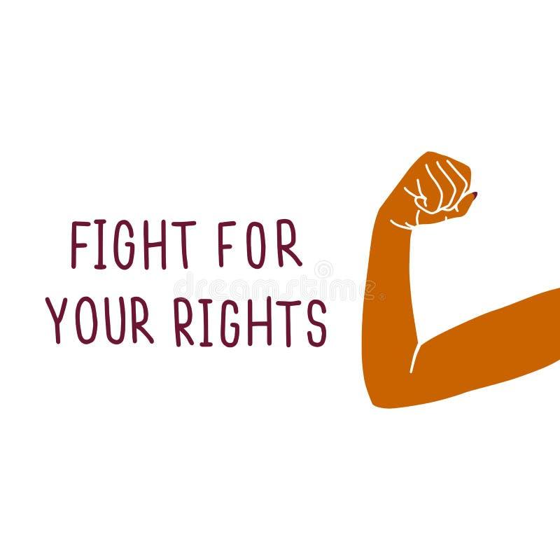 Χέρια γυναικών ` s Δύναμη κοριτσιών Έννοια φεμινισμού ελεύθερη απεικόνιση δικαιώματος