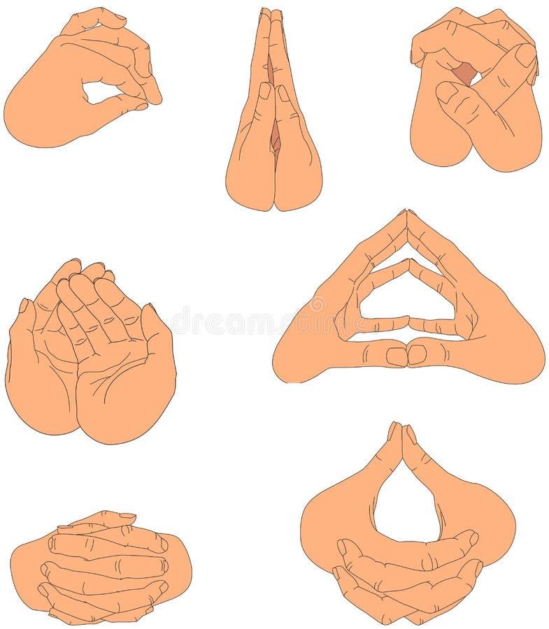 χέρια δύο απεικόνιση αποθεμάτων
