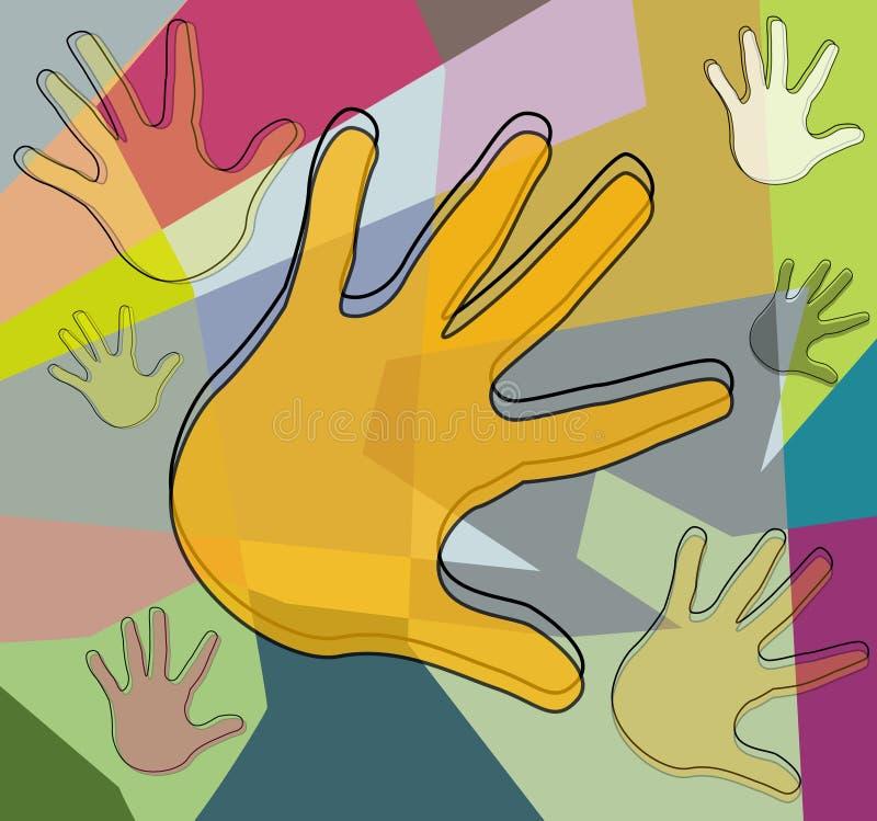 χέρια κολάζ ελεύθερη απεικόνιση δικαιώματος
