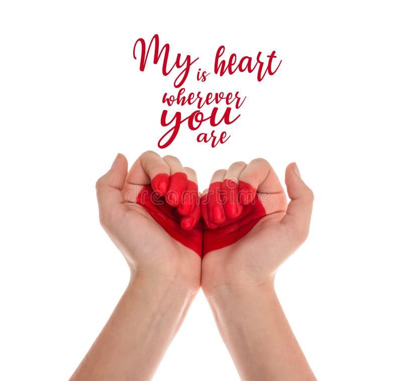 Χέρια με το σύμβολο καρδιών διανυσματική απεικόνιση