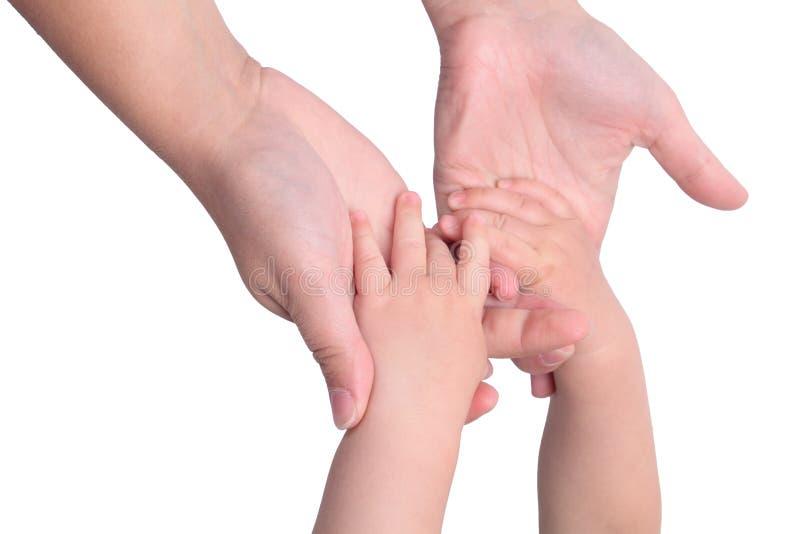 χέρια μωρών που κρατούν τις & στοκ εικόνα με δικαίωμα ελεύθερης χρήσης