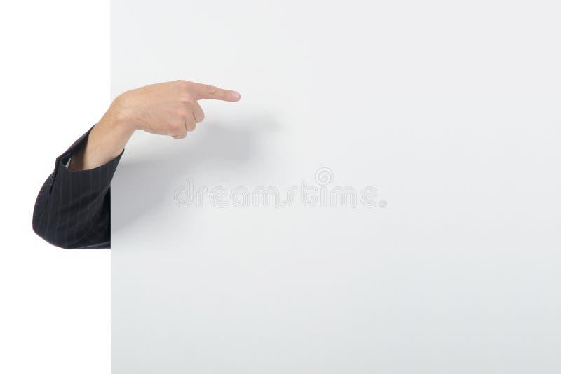 χέρια πινάκων διαφημίσεων στοκ φωτογραφίες